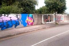 O mural antes da «limpeza».