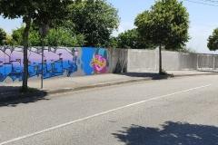 O mural depois da «limpeza».