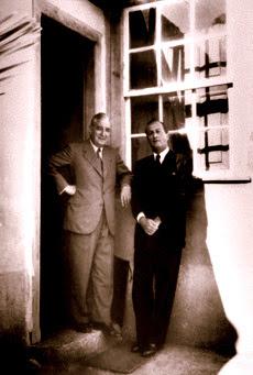 Salazar e Ricardo Espirito Santo (Avô do actual Ricardo Salgado)