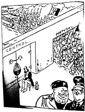 Cartoon aparecido na Imprensa Sueca que parodiava a suposta