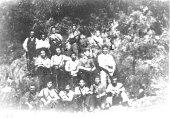 Alguns dos guerrilheiros participantes no congresso de fundação da Federación de Guerrillas de León-Galiza