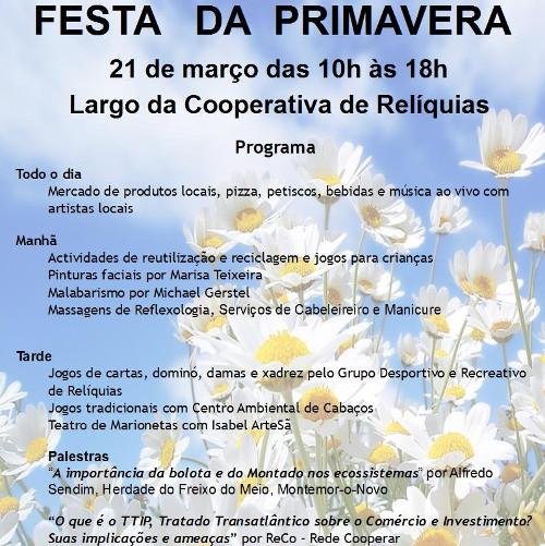 Festa da Primavera, 21 de Março em Odemira