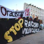 Concentração contra a violência policial e o racismo