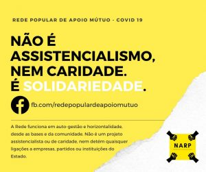 «Solidariedade nao é caridade» - Rede Popular de Apoio Mútuo do Porto