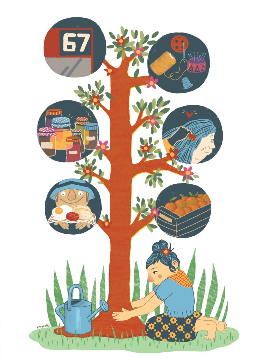 Ilustração de María Maraña / Revista Soberania Alimentaria, BiodiveRsidad y Cultura