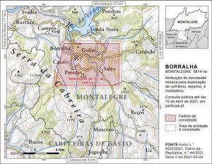 Mapa Borralha